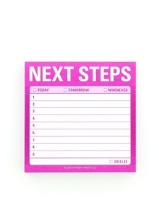 Knock Knock Next Steps Sticky Note