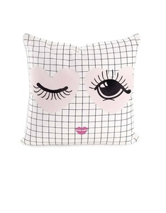 Miss EtoileHeart N Eye Cushion White 50 x 50 cm