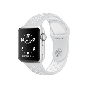 Apple Watch Nike+ 38mm Sport Band Platinum/White With Silver Aluminium Case