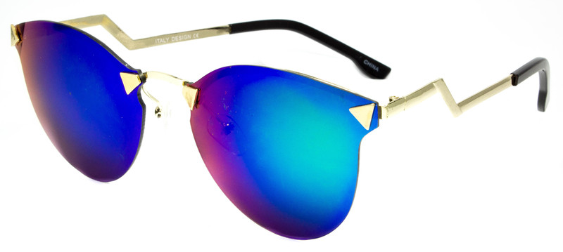 9a7af5c19bb Ego Fashion Sunglasses Rimless Frame Women Blue Green Orange ...