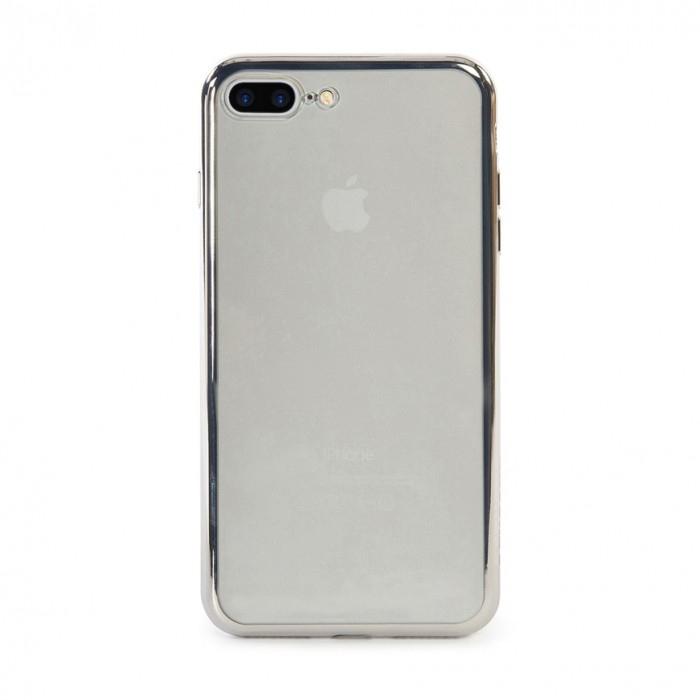 apple iphone 7 plus silver. tucano elctrofelx ultra slim case silver iphone 7 plus apple iphone