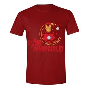 6260c1af Time City Avengers Ironman I Am Invincible Men's T-Shirt Red