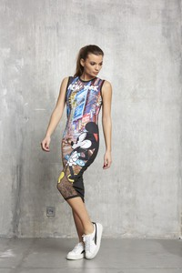 Sugarbird Mickey Mouse Sirne NY Printed Dress