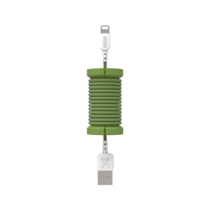 Philo Spool Military Green Lightning MFI Cable with Cable Organizer