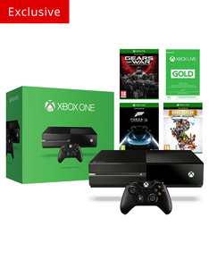 Xbox One 500GB Console +3 Games & 3 Month Xbox Live Membership [Exclusive]
