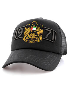 B180 UAE 1971 Falcon Black Unisex Cap