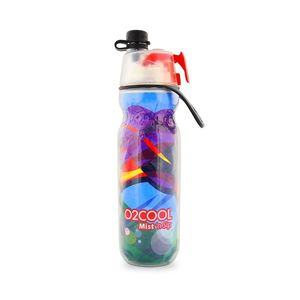 O2Cool Classic Elite Mist'N Sip Insulated Articsqueeze 20Oz Waves Collection Wave Pattern C