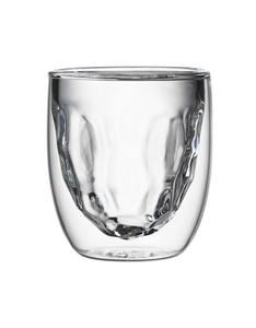 QDQ Metal Double Wall Transparent Glass 75ml [Set of 2]