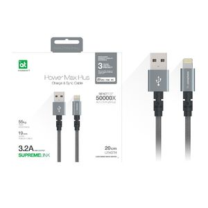 Amazing Thing Power Max+ Lightning to USB-A Cable 0.20m Space Gray