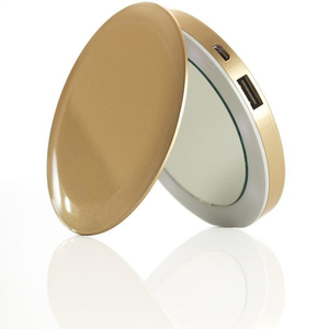 Hyper Pearl Compact Mirror Gold + 3000mAh Power Bank