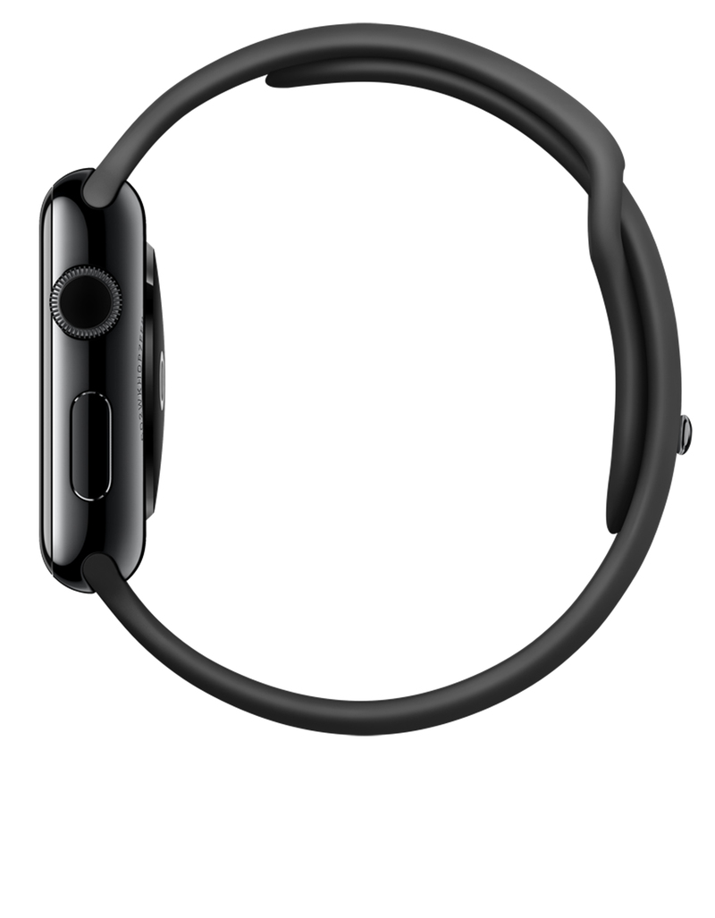 Apple Watch Sport 42mm Space Grey Aluminum Case Black Band