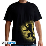 Abystyle Game Of Thrones Lannister Spray Black Men'S T-Shirt M