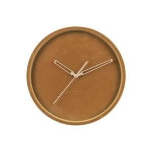 Karlsson Wall Clock Lush Velvet Caramel Brown