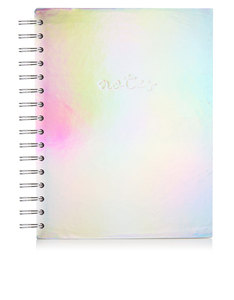 Skinny Dip Holographic Silver Notebook