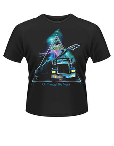 Plastichead Def Leppard On Through The Night Black T-Shirt