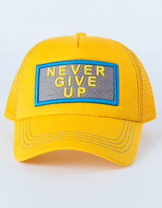 B180 Never Give Up3 Yellow Unisex Cap