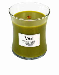 Woodwick Medium Apple Basket Green Candle