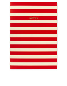 Go Stationery Colourblock Red/White Stripe A4 Notebook