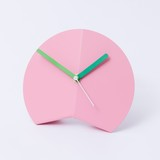 Block Origami Desk Clock Pink