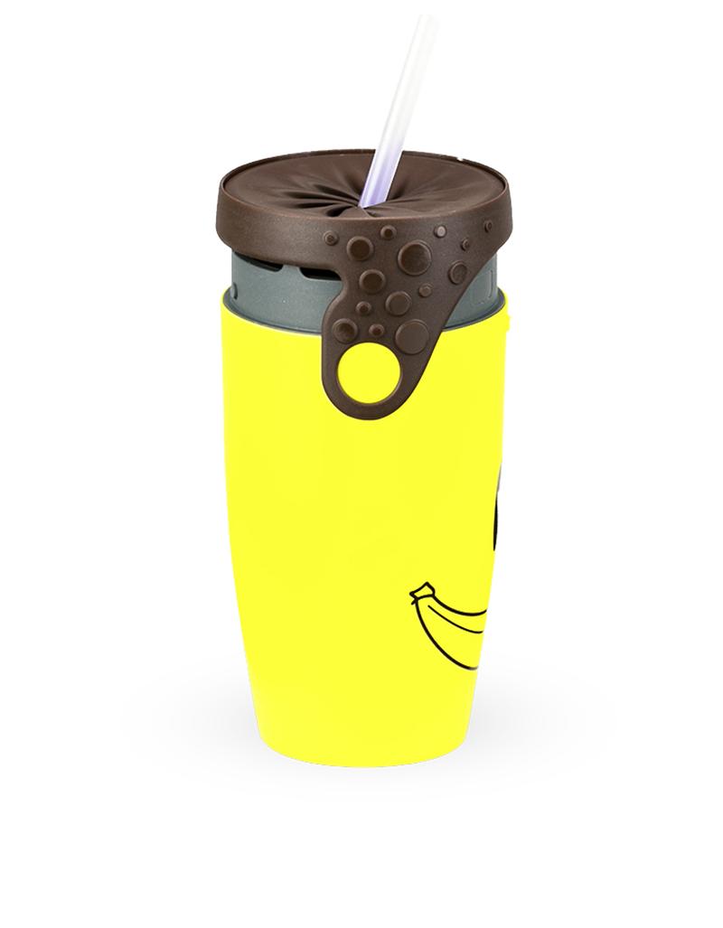 Twizz Neolid Smile Travel Mug Yellow/Brown