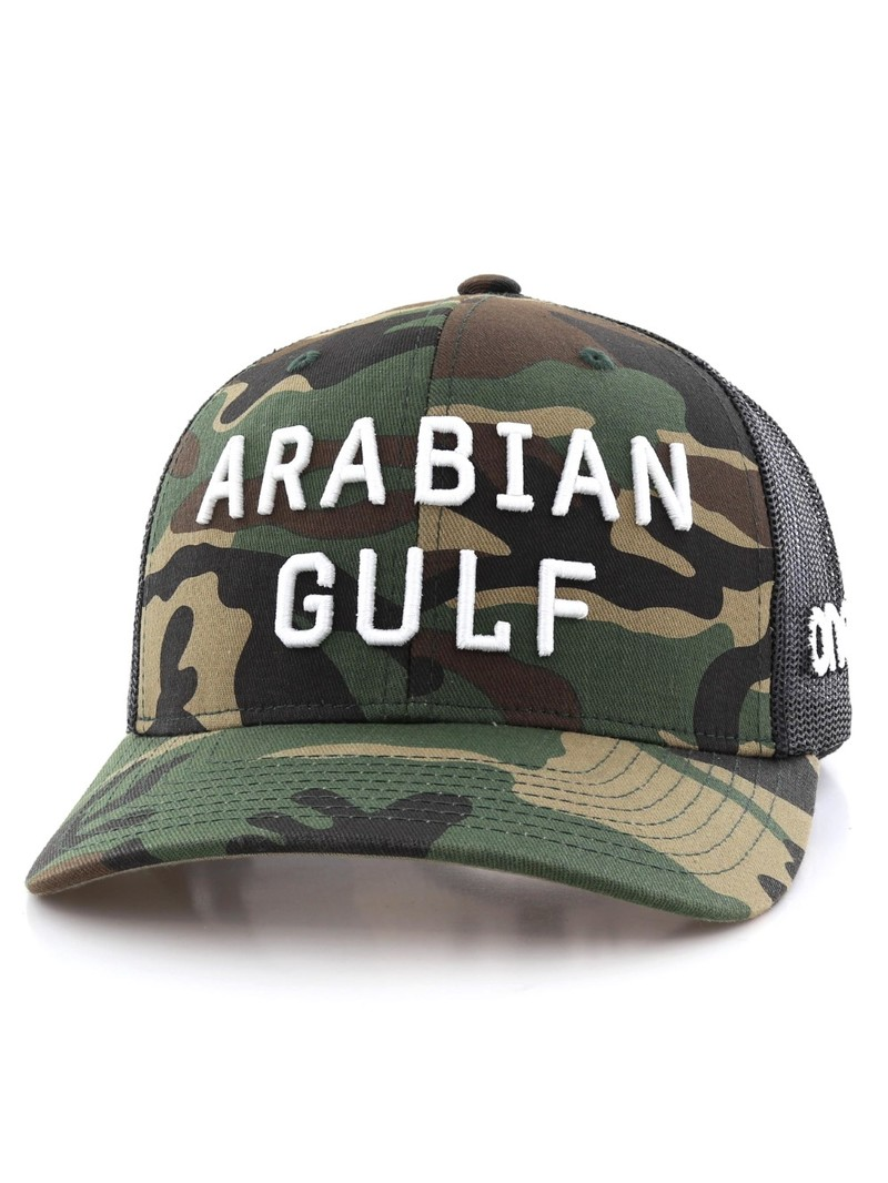 One8 Arabian Gulf English Curved Brim Trucker Hat Unisex Cap Osfa ... 6864ccbc2cbd