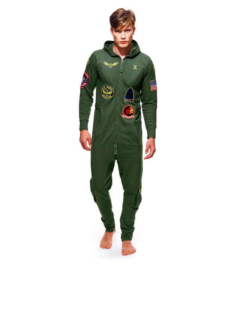 e07d3f3fa6 Onepiece Aviator Unisex Jumpsuit Jungle Green
