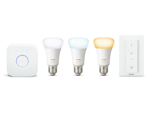 Philips Hue 9.5W E27 LED 3 Starter Set with Dimmer Switch