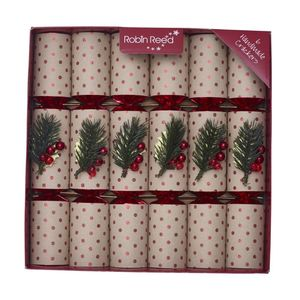 Robin Reed Piccadilly Berry Spot Christmas Crackers [Set of 6]