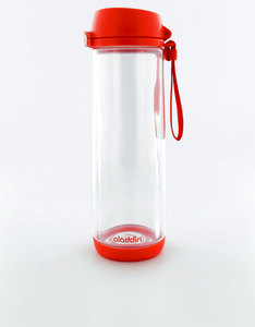 Aladdin Glass Lined Water Bottle 0.53L Tomato