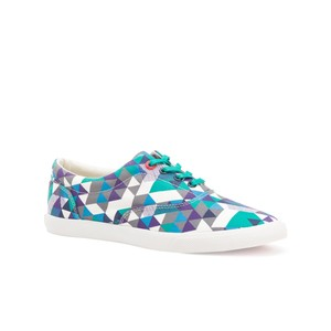 Bucketfeet Delta Navy/Purple Low Top Canvas Lace Women's Shoes