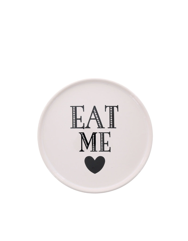 Miss Etoile Eat Me Small White Ceramic Cake Stand