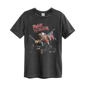 Amplified Iron Maiden 80 Tour Men's T-Shirt Charcoal