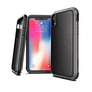 X-Doria Defense Lux Case Black Leather for iPhone XR