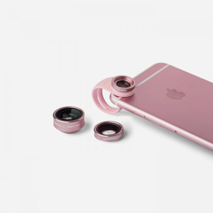 Momax X-Lens Rose Gold 3 In 1 Superior Lens Set