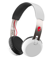 Skull Candy Grind White/Black/Red Wireless On-Ear Headphones