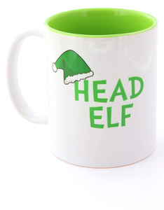 I Want It Now Head Elf Mug