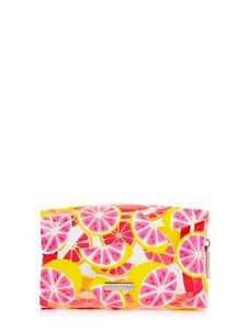 Skinny Dip Makeup Bag Glitter Grapefruit