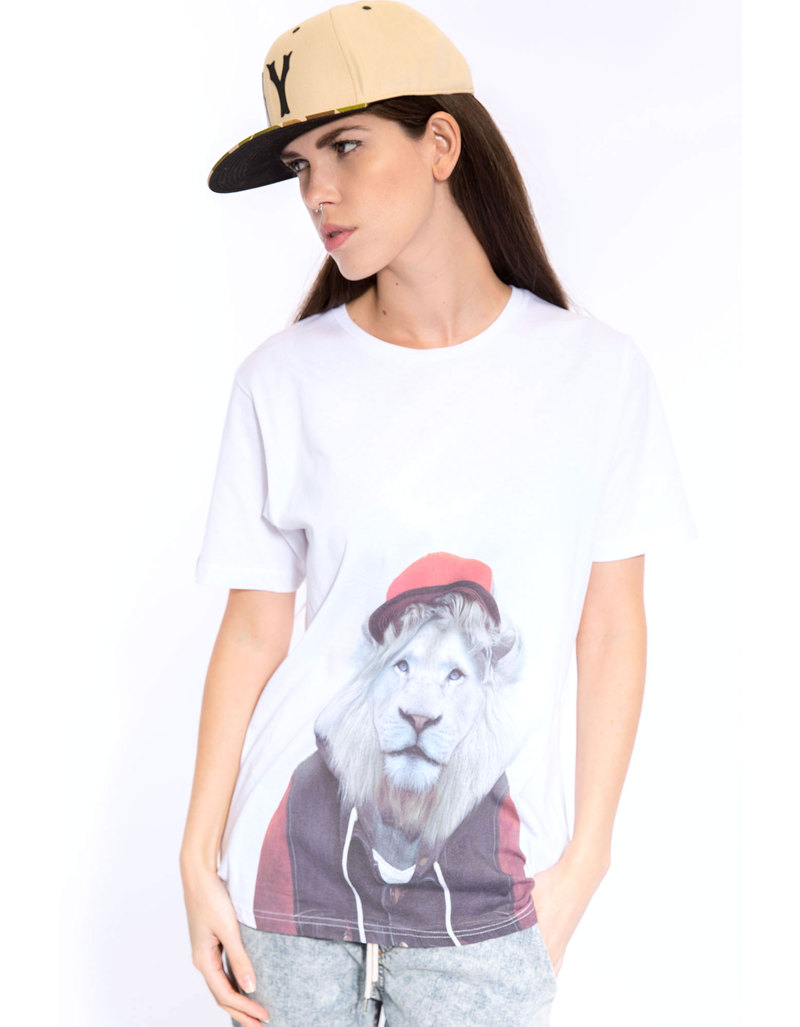 Saint Noir White Lion Men'S T-Shirt M