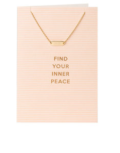 Orelia Gold Plated Find Your Inner Peace Necklace Gift Card