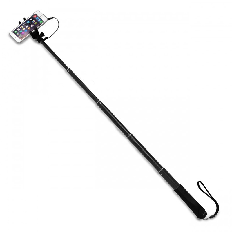 Puro Selfie Monopod 83cm Black with 35mm Cable Jack