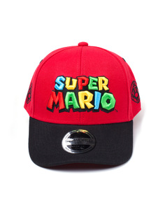 Difuzed Nintendo Uper Mario Logo Curved Bill Red Cap