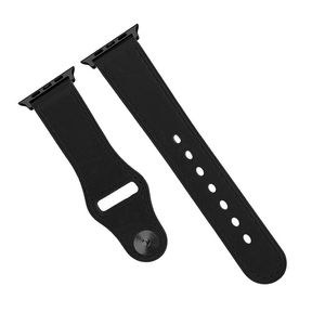 Promate Genio-42 Black Genuine Leather Strap with Pin-and-Tuck Closure for 42mm Apple Watch