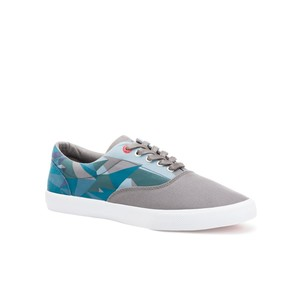 Bucketfeet Sea Of Data Charcoal/Teal Low Top Canvas Lace Men's Shoes