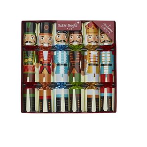 Robin Reed Piccadilly Nutcracker Christmas Crackers [Set of 6]