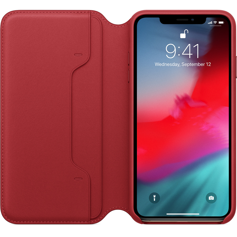 buy popular 99f01 3701a Apple Leather Folio (Product)Red for iPhone XS Max