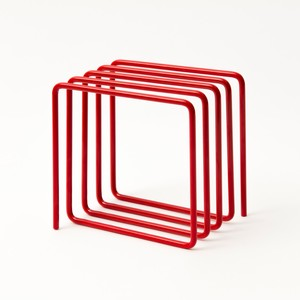 Block Magazine Rack Red