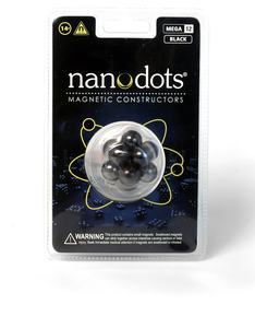 Mega Nanodots 12 Magnetic Dots Black