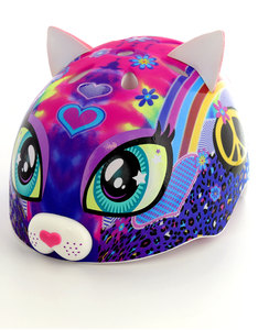 Cpreme Peace Love Kitty Pvc Tddlr Pink Kids Helmet