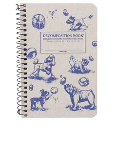 Decomposition Notebook Dogs & Bubbles Two Color [Pocket]