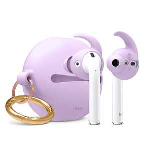 Elago Hook Earbuds Cover Lavender with Pouch for AirPods